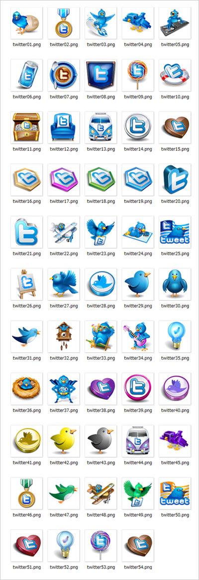 Twitter(ツイッター)のアイコン画像フリーダウンロード